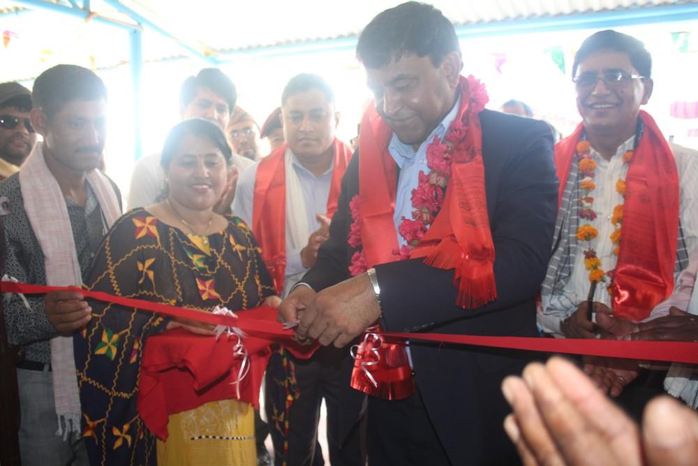 रुद्रपुर स्वास्थ्य चौकीको नया भवन शुभारम्भ,१५ शैयाको अस्पताल  छिटै बन्ने :भट्टराई