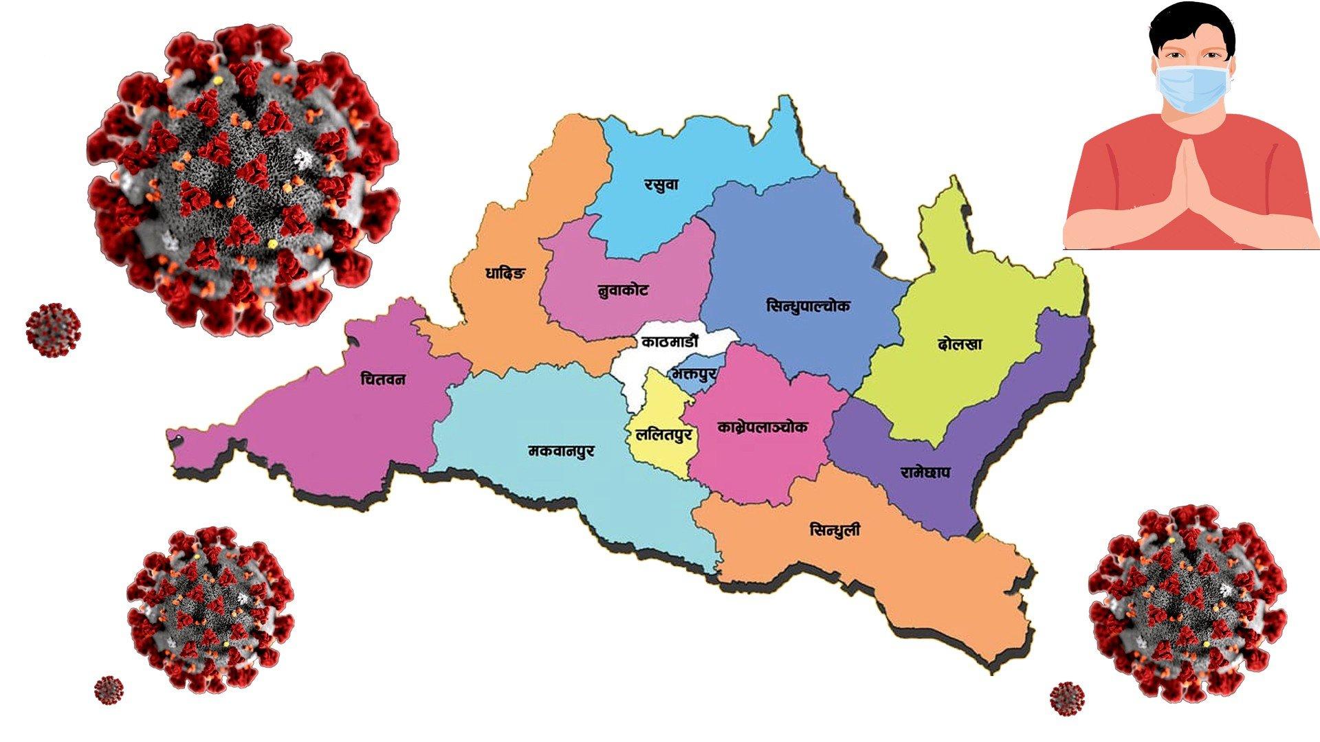 बागमती प्रदेशमा कोरोना संक्रमित सङ्ख्या ५० हजार नाघ्यो,धादिङ सातौँ नम्बरमा