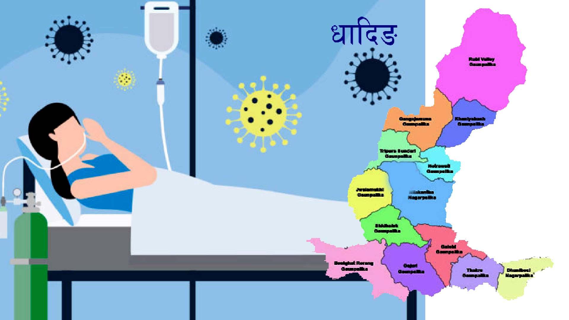 धादिङमा कोरोनाका सक्रिय संक्रमित १२ पुग्यो,तिन संक्रमित थपिए